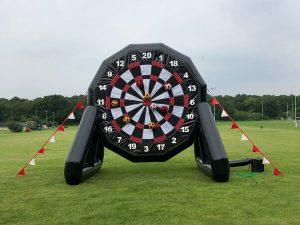 Inflatable football darts hire