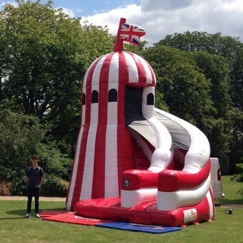 Helter skelter inflatable hire