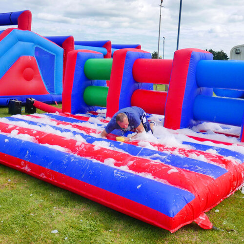 Foam assault course inflatable hire