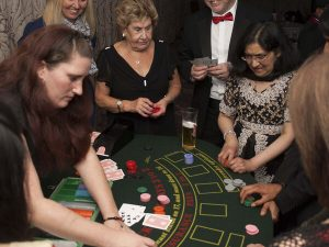Mobile casino game corporate event