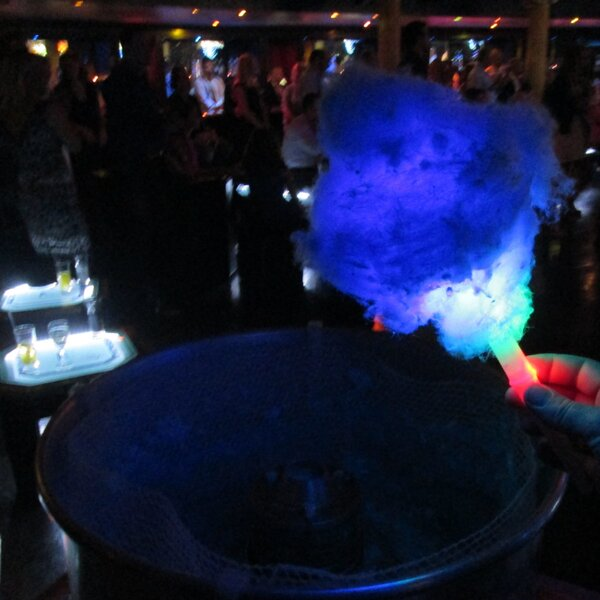 Halloween party candyfloss cart hire