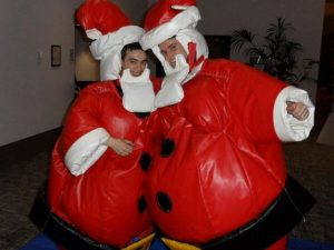 Santa suit for hire (Santa sumo)