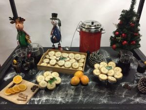 Mulled wine and mince pie stand hire london
