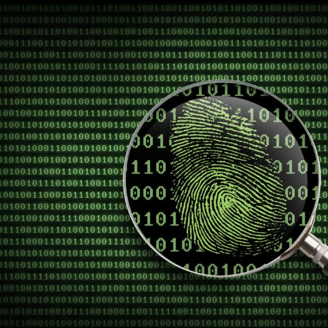 38251176 - magnifying glass searching code for online activity.