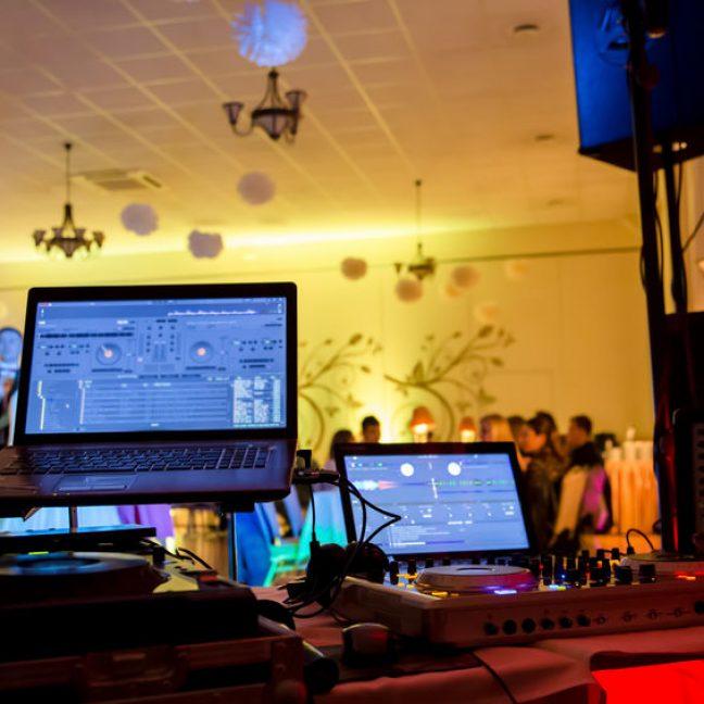 Dancefloor, party concept with dancing people