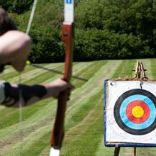 Adult doing archery