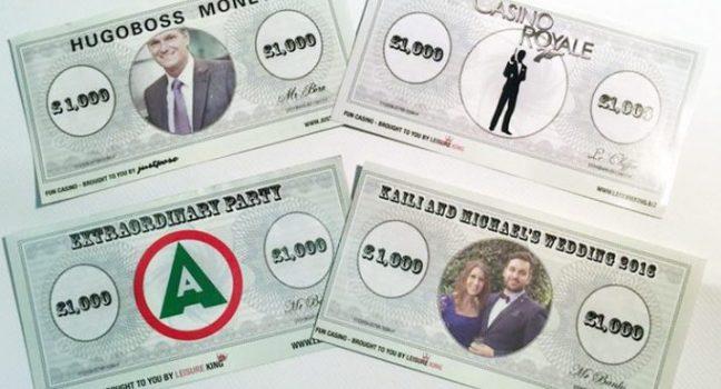 Branded money casino hire