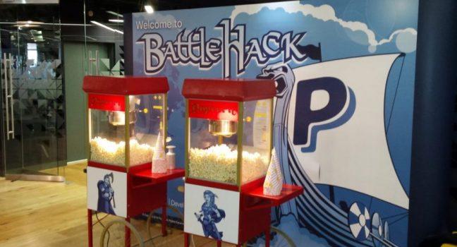 Branded popcorn machine hire