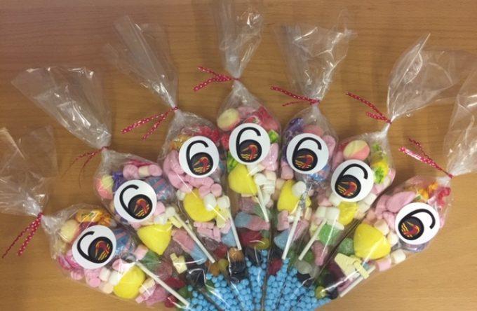 Branded sweet cones