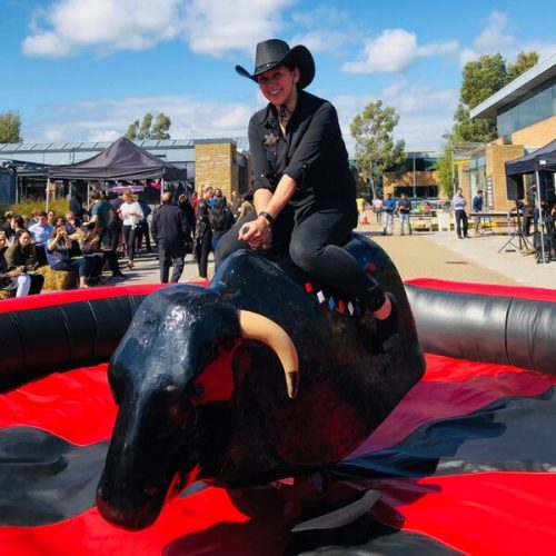 Bucking bronco hire rodeo