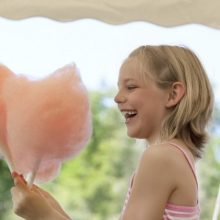 Children's birthday party candy floss stall hire