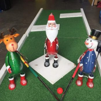 Christmas Crazy Golf hire