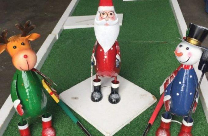 Christmas Crazy Golf hire