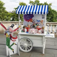 Customised vintage sweet cart hire