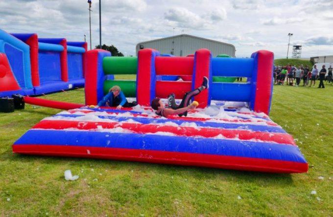 Foam-inflatable-hurdles-hire-kent