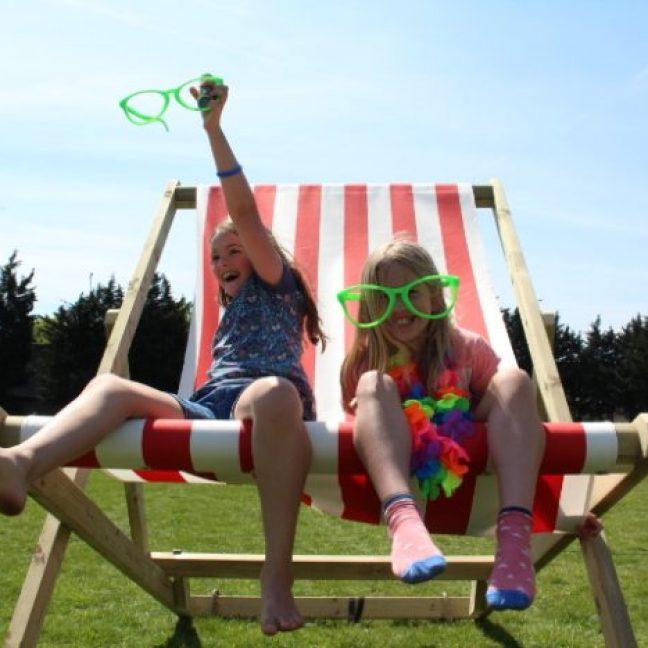 Giant deck chair hire fun days