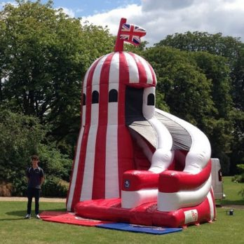 Helter skelter inflatable hire