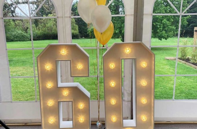 Hire led letters and numbers London