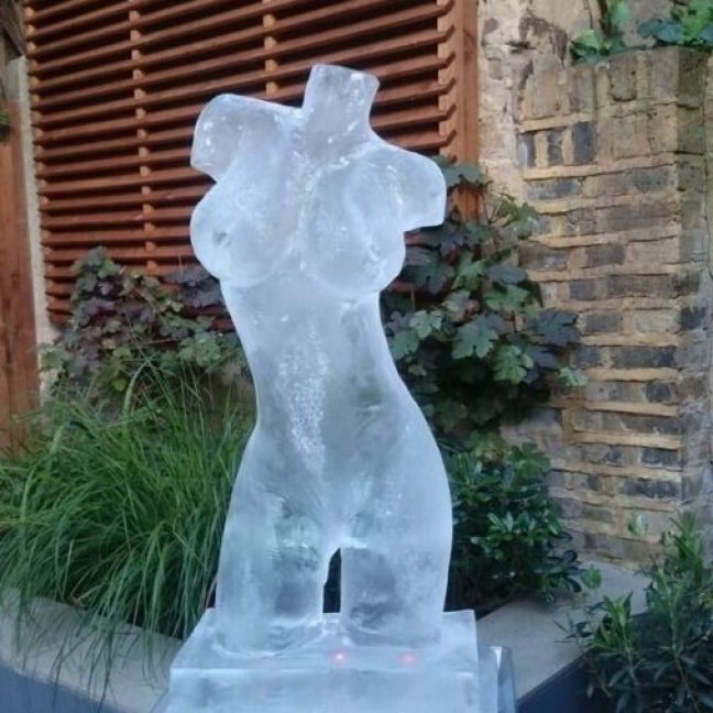 Ice sculpture uk female torso