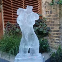 Ice sculpture uk female torso