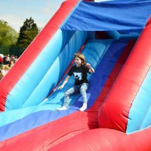 Inflatable assault course surrey
