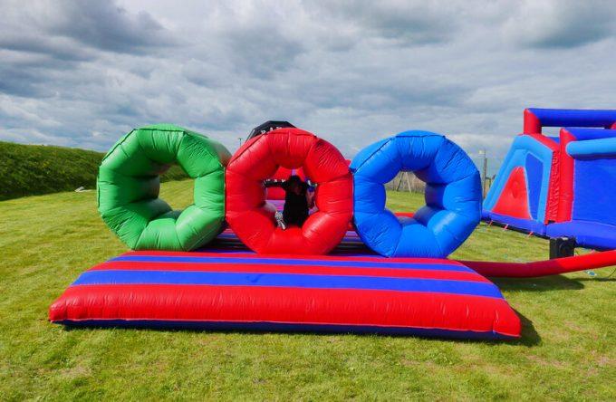 Inflatable barrel crawl hire