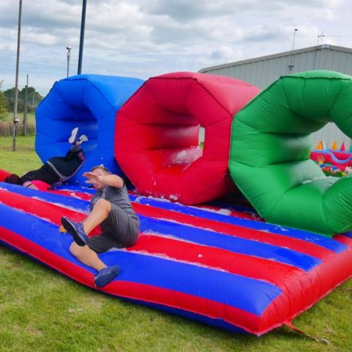 Inflatable barrel crawl hire foam