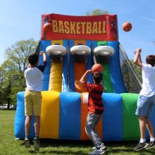 Inflatable basketball challenge hire