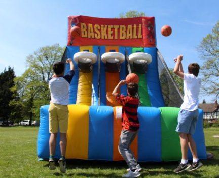 Inflatable basketball challenge hire