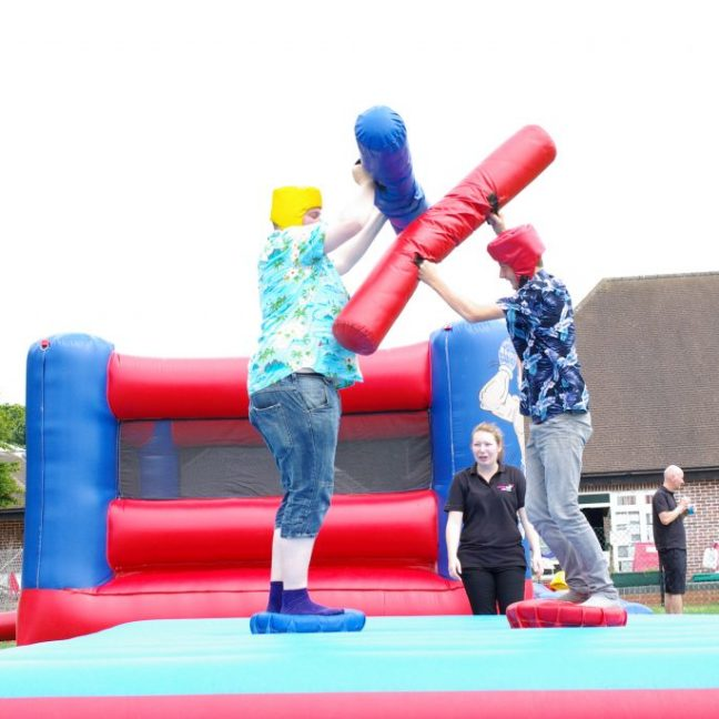 Inflatable gladiator duel hire kent