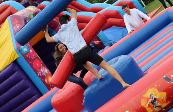 Inflatable-gladiator-duel-hire-london