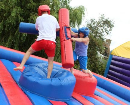 Inflatable gladiator duel hire