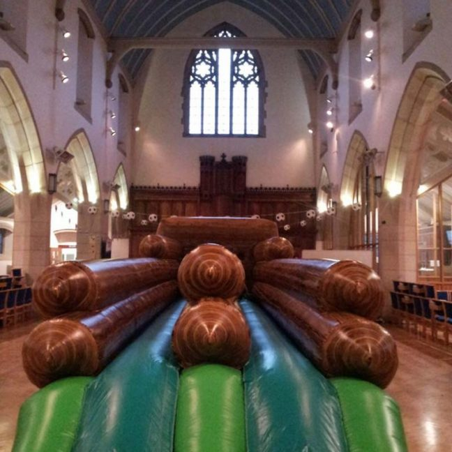 Inflatable hire bungee run game