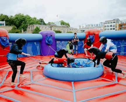 Inflatable hungry hippo hire