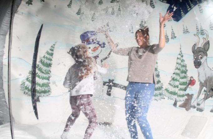 Inflatable snow globe hire
