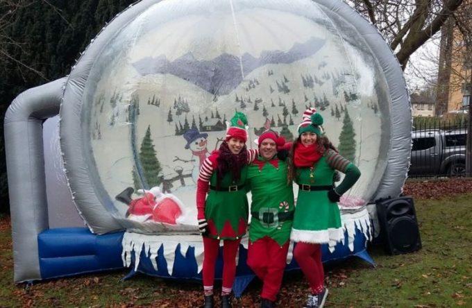 Inflatable-snow-globe-hire-Christmas-fair-event
