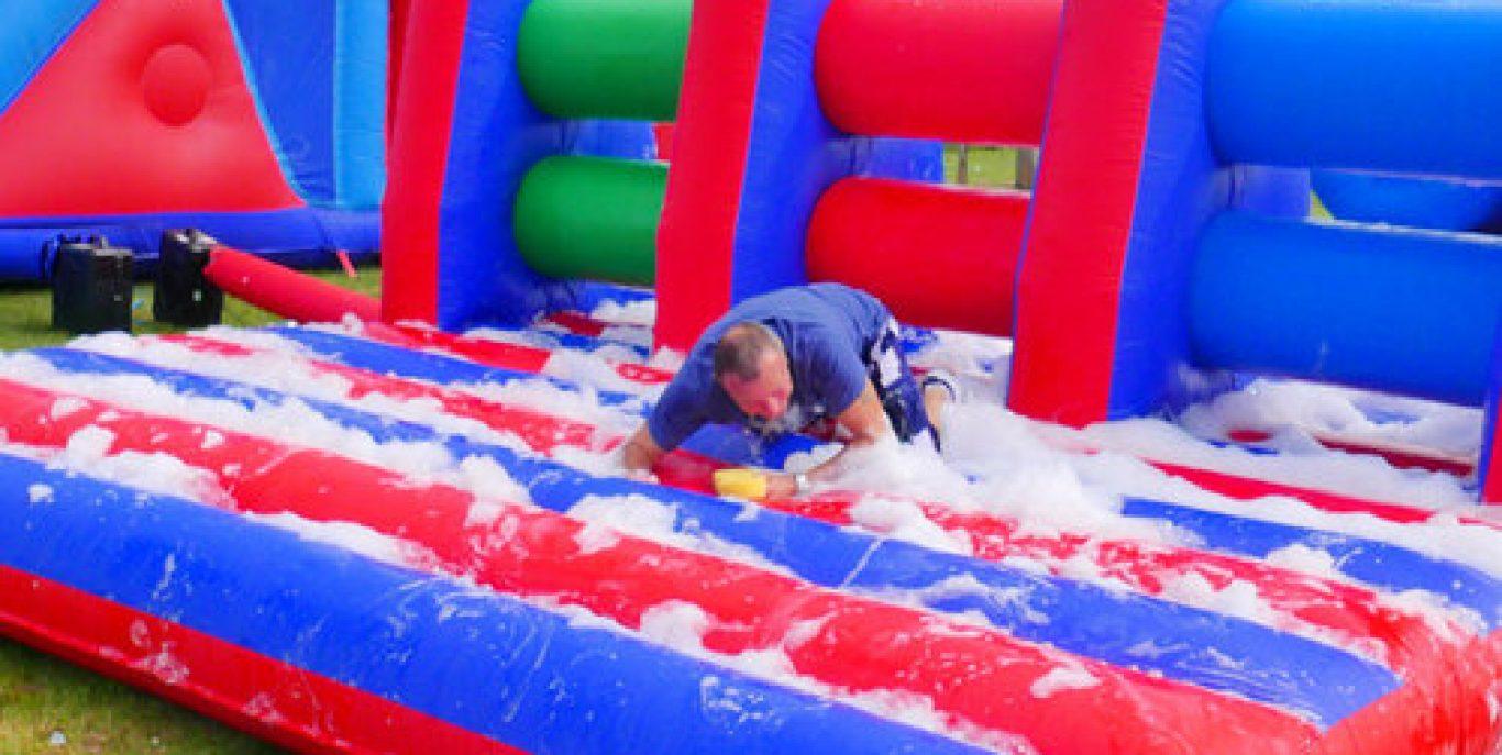 Foam assault course inflatable hire