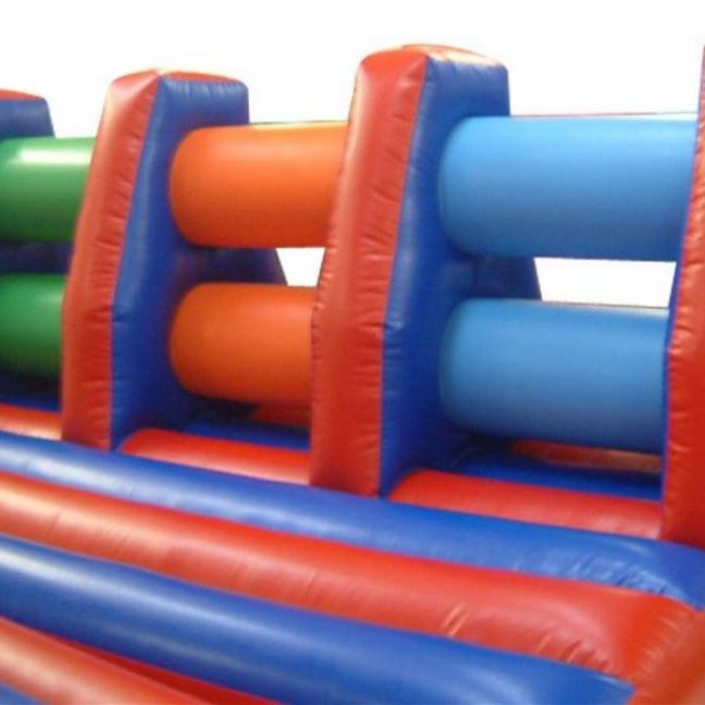 Inflatable knockout hurdle