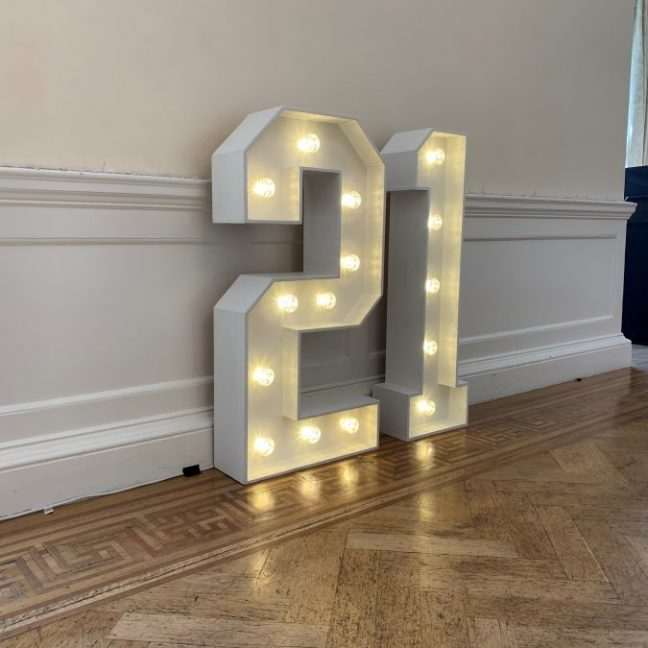 Light up letters hire kent