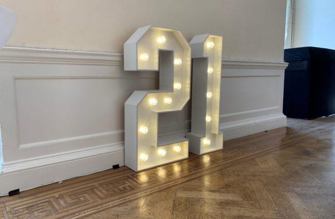 Light up letters hire kent