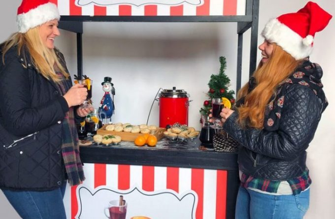 Mulled wine and mince pies stall kent