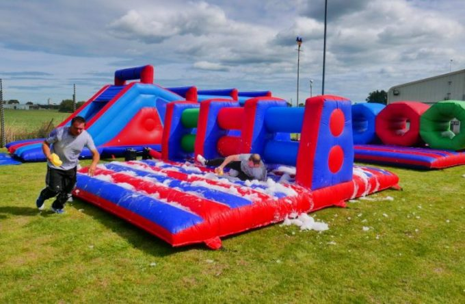 Rent-inflatable-hurdles-london