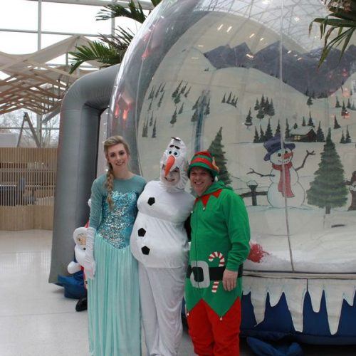 snowglobe inflatable photography hire