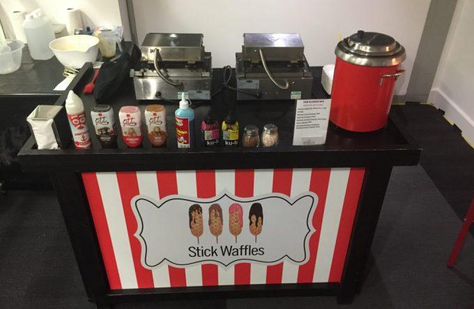Stick waffle stand hire