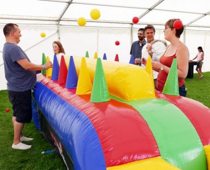 Inflatable under pressure hire