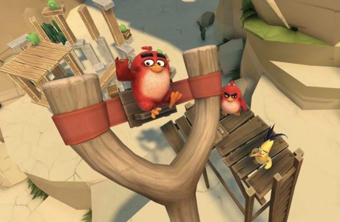 Virtual Reality hire London (angry birds)