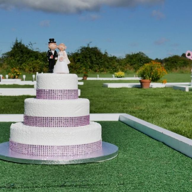 wedding crazy golf hire