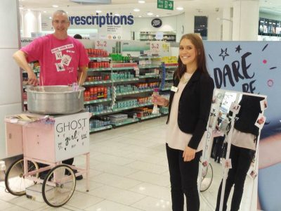 branded-candyfloss-machine-for-hire-product-launch