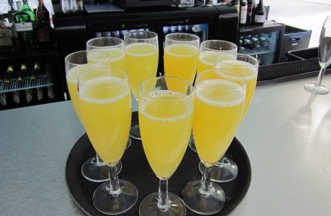 bucks fizz welcome drinks