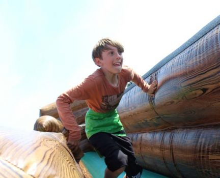 Inflatable bungee run hire
